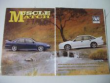 1994 HSV GTS AND CSV CORSA 220i COMPLETE 8 PAGE MAGAZINE COMPARISON ROAD TEST