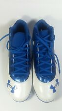 MEN SIZE 11 UNDER ARMOUR TENNIS SHOES BLUE/WHITE ART NO. 1250045-411