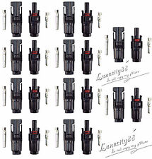 10 pair MC4 30A Male + Female M/F Connectors Set for PV Solar Panels Cable Wire