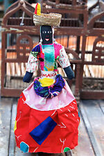 Colorful Handmade Jamaican Black Heritage Rag Doll Woven Hat Island Collectible