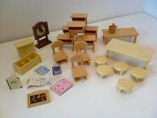 Sylvanian Families Berry Grove School Nursery Furniture Table Chairs Accessories