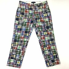 Polo Golf Ralph Lauren Patchwork Madras Plaid Men's 38 X 29  Slacks Pants