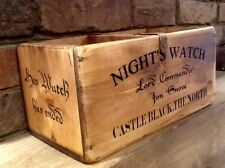 Jon Snow - Game Of Thrones, Castle Black. Antiqued Wooden Box. CD Storage Box.