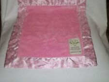 MY BLANKEE Plush Soft PINK SATIN White Polka Dots On Trim Baby Blanket Crib