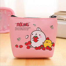 t! Women Cute Small Zip Coin Bag Case Key Card Holder Purse Wallet Handbag Pink