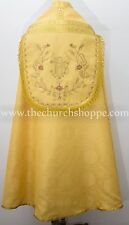New Yellow Cope & Stole Set with IHS embroidery,capa pluvial,chape,far fronte