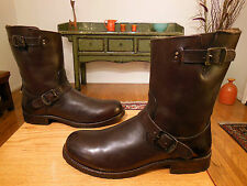 Vtg FRYE Men's Dark Brown Leather 'Rogan' Engineer Boots   11.5 D  XLNT!