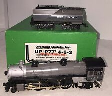 HO BRASS CUSTOM OMI UP UNION PACIFIC 'P77' 4-6-2 #3219 W/6-WHEEL TRUCK TENDER