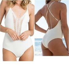 Billabong Crochet One-piece Swimsuit Seashell S Small   (ca976)