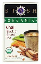 Stash Tea - Premium Organic Chai Black & Green Tea - 18 Tea Bags