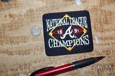 "Atlanta Braves 3 3/8"" Patch 1991 National League Champions Logo Baseball"