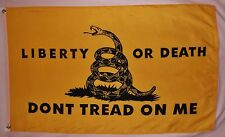 Don't Tread On Me Flag 3' x 5' Liberty Or Death Gun Rights And Tea Party Banner
