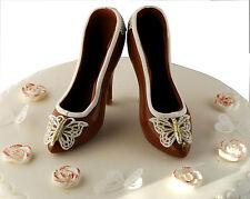 Handmade chocolat au lait chaussures gâteau anniversaire set cake topper décoration.