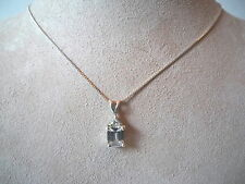 """CZ STONES SILVER SETTING MARKED FAS 18"""" CHAIN"""