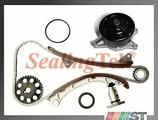Fit 00-08 Toyota 1.8L 1ZZFE VVT-i Engine Timing Chain Gear Kit w/ Water Pump set