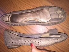 CLARKS ARTISAN Women's Brown Bronze Cut Out Eyelet Flats Shoes 8.5 M ethankeith1