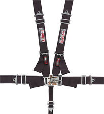 G-FORCE 6000BK 5-Point SFI Racing Harness Latch Seat Belts Black SFI
