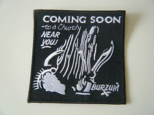 1BURZUM1 PATCH Iron On Embroidered Black Metal Darkthrone Mayhem Old Funeral NEW