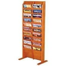 Wooden Mallet Cascade Free Standing 20 Pocket Magazine Rack Medium Oak MR20-FSMO