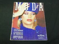 1984 OCTOBER-DECEMBER IN MODA ITALIAN MAGAZINE - FASHION FRONT COVER - F 3184