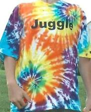 "Zeekio Fashion Tie Dyed ""Juggle"" Tee Shirt - One word says it all!- XL"