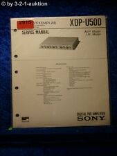 Sony Service Manual XDP U50D Digital Pre Amplifier (#2915)
