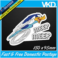 Road Runner Sticker/ Decal - Meep Beep Bomb Drift JDM ILLEST FATLACE 4x4 Sparkle