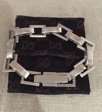Gucci Italy Vintage Authentic Sterling Silver Heavy Link Bracelet