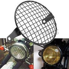 16cm Retro Grill Motorcycle Side Mount Headlight Lamp Cover For Honda Bobber CB