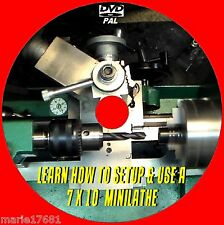 7X10 MINI LATHE MACHINE SKILLS TECHNIQUES TUTORIAL VIDEO TURNING/MILLING DVD NEW