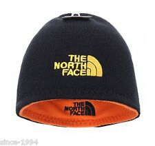 The North Face Beanie Hat, Skull Cap, Soft Fleece, Reversible NWT BLK,