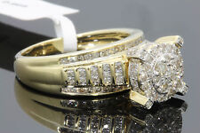 10K YELLOW GOLD 1.06 CT WOMENS REAL DIAMOND ENGAGEMENT RING WEDDING BRIDAL RING