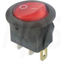 Wippschalter schwarz rund EIN-AUS 12V DC max 16 A @ 14V DC (R Last) Schalter KFZ
