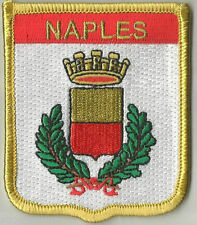 NAPLES FLAG WORLD EMBROIDERED PATCH BADGE