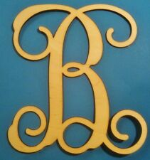 "32"" Wooden Interlocking Vine Letter Unfinished Wood Room Decor Custom Letter32in"
