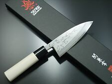 Japanese Kanetsune Seki White Steel Sirogami Damascus Deba Knife KC-513 Japan