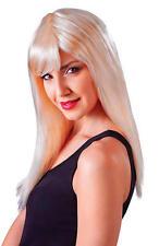 Longueur épaule Sexy Mesdames Blonde Perruque & Frange-Temptress Diva robe fantaisie