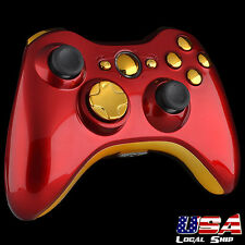 Full Red Shell Buttons Replacement Parts For Xbox 360 Controller shell
