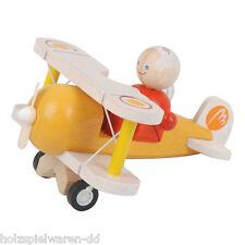 PlanToys 60302 Biplan+Pilote Plan De La Ville bois neuf! #