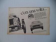 advertising Pubblicità 1965 MG B
