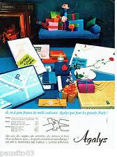 PUBLICITE ADVERTISING 056  1964  les draps linge maison coffret cadeau Agalys