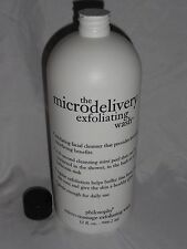 New! Philosophy The Microdelivery Micro-Massage Exfoliating Wash JUMBO 32 fl oz!