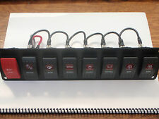 SWITCH PANEL BOAT CARLING V1D1 8 SWITCHES WIRED PSC-81-BK BLACK 1 RED LENS EBAY