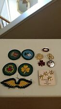 LOT VINTAGE GIRL SCOUT STAR MEMBERSHIP PINS - BROWNIE ELF PIN - MERIT BADGE