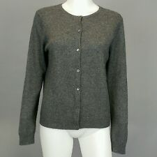 Lauren Ralph Lauren 100% Cashmere Gray Grey Cardigan Sweater Sz PS Petite Small