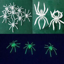 10PCs Halloween Luminous Small Spider Night Supplies Decorative Props Party New