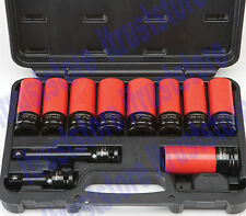1/2 in Drive Lug Nut High Torque Torq Tool Set Impact Socket With Extension Bar