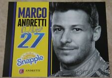 "2015 Marco Andretti Snapple ""1st issued"" Honda Dallara Indy Car postcard"