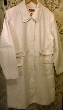 NEW Wit & Wisdom White linen blend knee-length coat Size 14