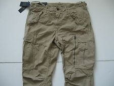 POLO RALPH LAUREN Men's Khaki Straight-Fit Militray Field Cargo Pants 36x30